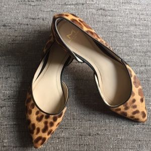 Marc Fisher Leopard Calf Hair D'orsay Flats 6